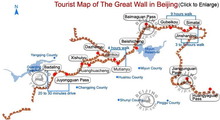 Great wall of china great wall in beijing beijing great wall map gumiabroncs Image collections