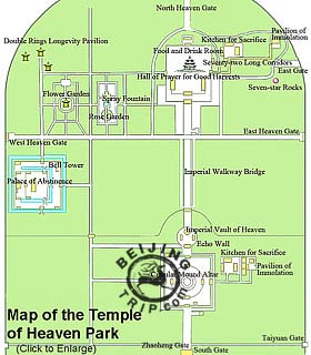 Map of Temple of Heaven, Beijing