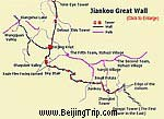 Jiankou Great Wall Map