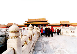 Forbidden City in Beijing - Gate of Supreme Harmony