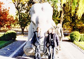 Ancient sacred elephant in Sacred Way of Beijing