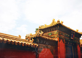 Beijing Forbidden City - Unique gate of Palace of Tranquil Longevity